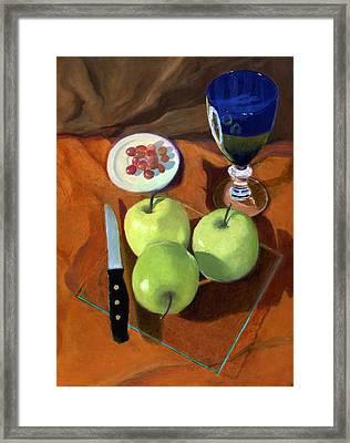 Still Life With Apples Framed Print by Karyn Robinson
