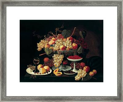 Still Life With Fruit Framed Print by Celestial Images