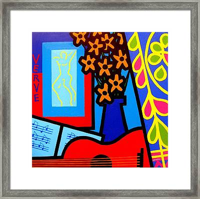Still Life With Henri Matisse's Verve Framed Print by John  Nolan