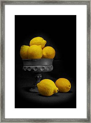 Still Life With Lemons Framed Print by Tom Mc Nemar