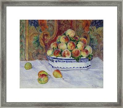 Still Life With Peaches Framed Print by MotionAge Designs