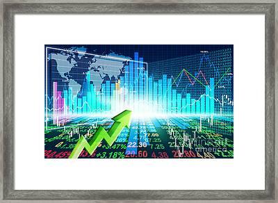Stock Market Concept Framed Print by Setsiri Silapasuwanchai
