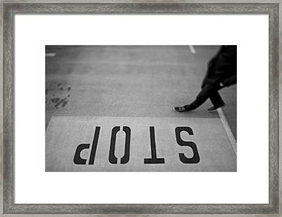 Stop Framed Print by Mountain Dreams