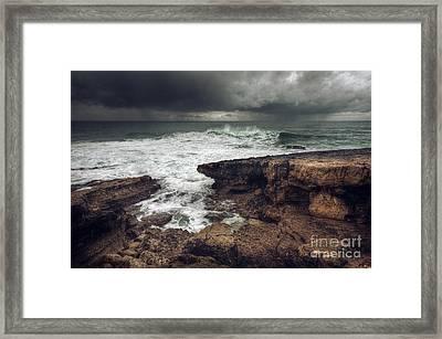 Stormy Seascape Framed Print by Carlos Caetano