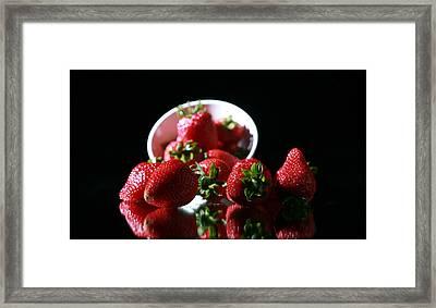 Strawberries Framed Print by Michael Ledray