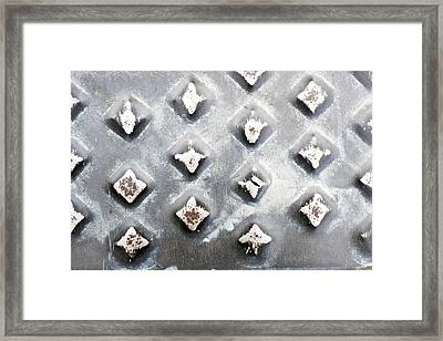 Studded Metal Framed Print by Tom Gowanlock
