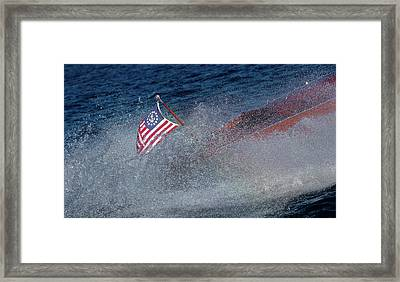 Studio Red White Blue Framed Print by Steven Lapkin