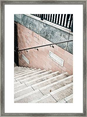 Subway Stairs Framed Print by Tom Gowanlock
