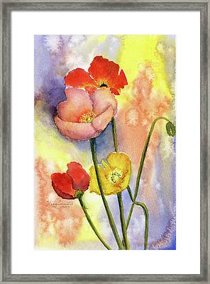 Summer Poppies Framed Print by Vickey Swenson