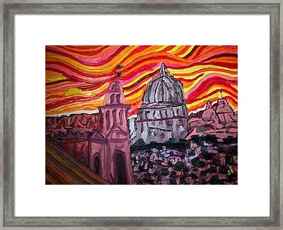 Sun At Night Siennas Delight Framed Print by Ira Stark