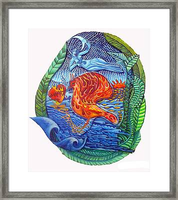 Sun Setting On The Age Of Pisces Framed Print by Joanna Whitney