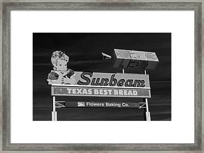 Sunbeam - Texas Best Bread Framed Print by Mountain Dreams