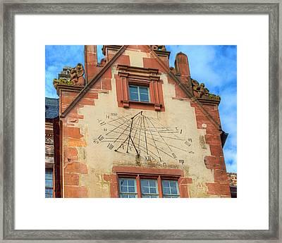 Sundial Framed Print by Darin Williams