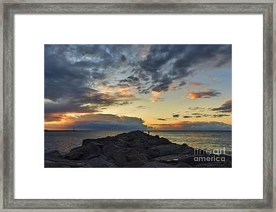 Sunrise At The Wedge Framed Print by Eddie Yerkish