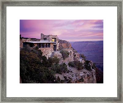 Sunrise Over Lookout Studio Framed Print by Mike Buchheit