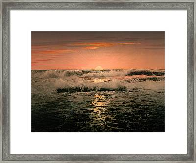 Sunrise Framed Print by Unknown
