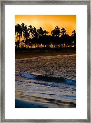 Sunset At The Beach Framed Print by Sebastian Musial