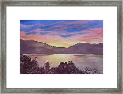 Sunset At Woodhead Campground Framed Print by Joel Deutsch