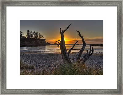 Sunset Bay Framed Print by Mark Kiver