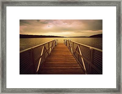 Sunset Horizon Framed Print by Jessica Jenney