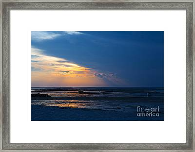 Sunset On Cape Cod Framed Print by Diane Diederich