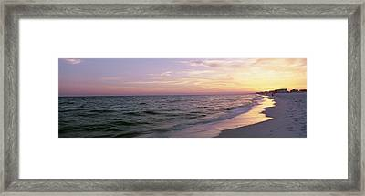 Sunset Over The Ocean, Gulf Of Mexico Framed Print by Panoramic Images