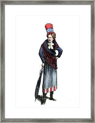 Susan B. Anthony (1820-1906) Framed Print by Granger