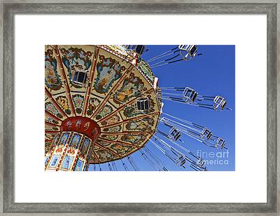 Swing Ride At The Fair Framed Print by Jeremy Woodhouse
