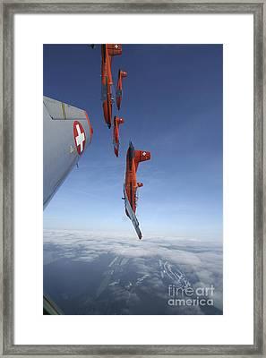 Swiss Air Force Display Team, Pc-7 Framed Print by Daniel Karlsson