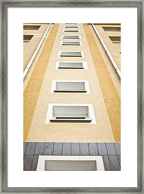 Tall Building  Framed Print by Tom Gowanlock