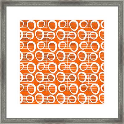 Tangerine Loop Framed Print by Linda Woods