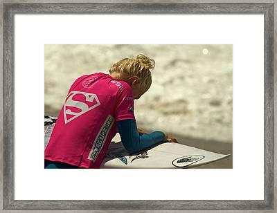 Tatiana Weston-webb Framed Print by Waterdancer