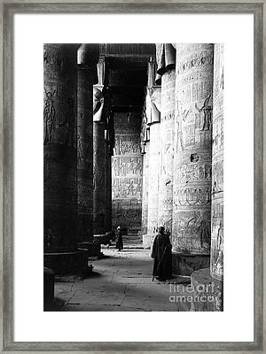 Temple Of Hathor, Early 20th Century Framed Print by Science Source