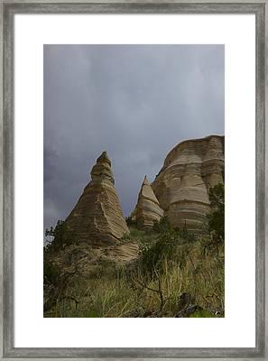 Tent Rocks Framed Print by Jeff  Swan