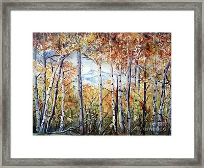 Tetons In Autumn Framed Print by Patricia Pushaw