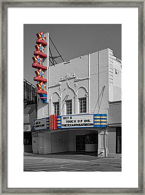 Texas Theater Framed Print by David and Carol Kelly