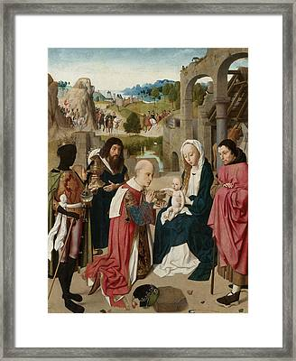 The Adoration Of The Magi Framed Print by Geertgen tot Sint Jans