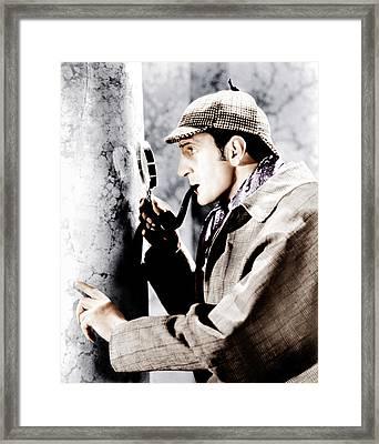 The Adventures Of Sherlock Holmes Framed Print by Everett