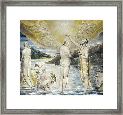 The Baptism Of Christ Framed Print by William Blake