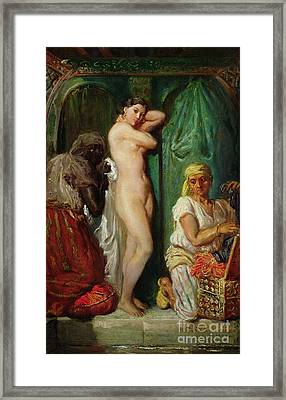 The Bath In The Harem Framed Print by Theodore Chasseriau