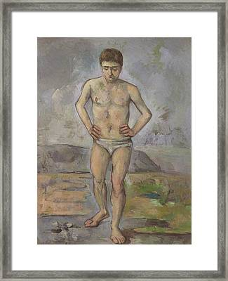 The Bather Framed Print by Paul Cezanne