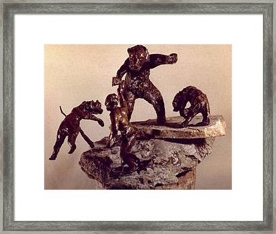 The Bear Trap  Framed Print by Willoughby  Senior
