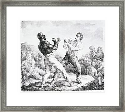 The Boxers Framed Print by Theodore Gericault