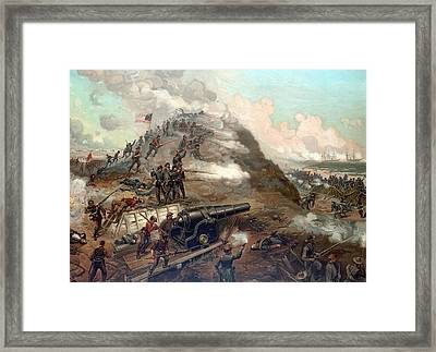 The Capture Of Fort Fisher Framed Print by War Is Hell Store