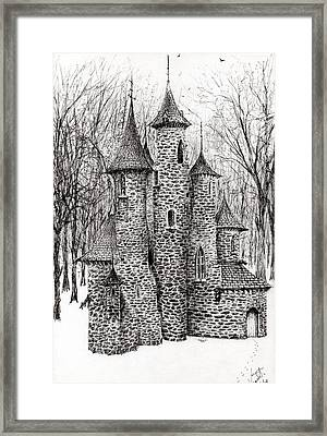 The Castle In The Forest Of Findhorn Framed Print by Vincent Alexander Booth