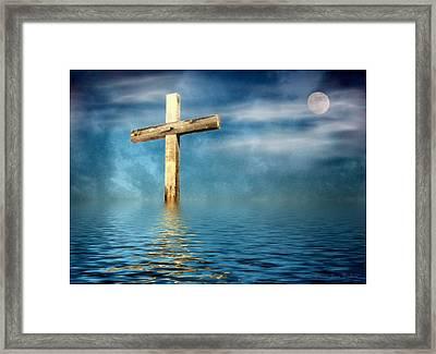 The Cross Framed Print by Joyce Dickens