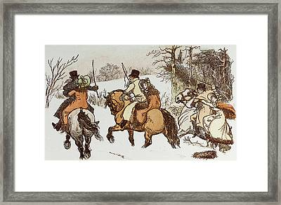 The Curmudgeons Christmas  Horse Riding Framed Print by English School