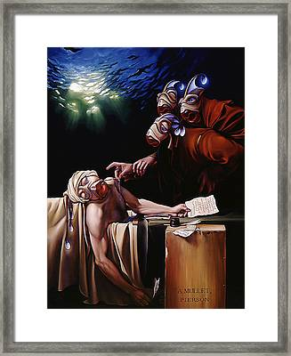 The Death Of Mullet Framed Print by Patrick Anthony Pierson