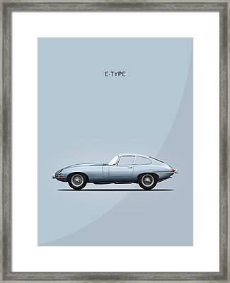 The E Type Framed Print by Mark Rogan