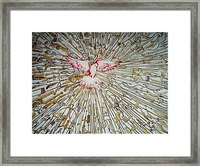 The Evolution Of The Peace Framed Print by Paulo Zerbato